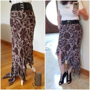 PRETTY HI-LOW Assymetric Skirt